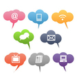 colored communication symbols vector image