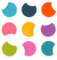 Colorful Paper Empty Stickers - Labels Set vector image vector image