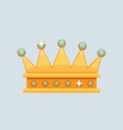 crown icon award for winners champions vector image vector image