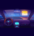 empty car interior inside with gps on dashboard vector image vector image