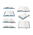 empty open books set vector image vector image