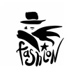 Fashion logo design vector image vector image