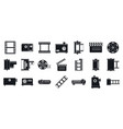 filmstrip camera icons set simple style vector image vector image