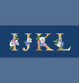 floral alphabet font