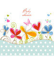 Floral baby shower vector image vector image
