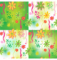 Four Floral backgrounds vector image