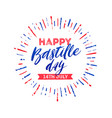 french national holiday - bastille day vector image vector image