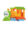 funny multicolored locomotive train vector image vector image