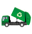 garbage truck isolated on a white background vector image vector image