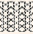 geometric hexagon seamless black pattern vector image