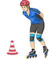 girl on roller skates vector image vector image