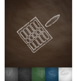 gridiron icon Hand drawn vector image vector image