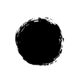 Grunge background circle black vector image vector image