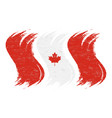 grunge brush stroke with national flag of canada vector image