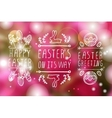 Hand-sketched easter typographic elements vector image vector image