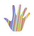 hand stripes vector image vector image