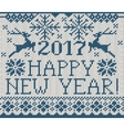 Happy New Year 2017 seamless pattern vector image vector image