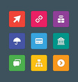Icons in material design style sign and symbols vector image