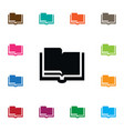 isolated encyclopedia icon studying vector image