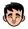 kid cute face cartoon icon vector image vector image
