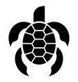 kid turtle icon simple style vector image vector image