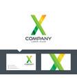 letter x - logo design vector image vector image