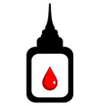 Lubricator with drop of blood Icon Isolated on vector image