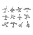 modern types planes vector image