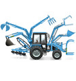 Multi Tractor vector image vector image