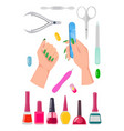 nails care collection banner vector image vector image