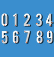 numbers colourful set in vintage style vector image