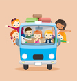 People on tuk tuk driving to travel vector image
