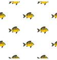 perch fish pattern seamless vector image vector image