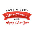 red realistic detailed paper have a very merry vector image vector image