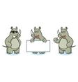 Rhino Mascot happy vector image vector image