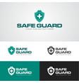 safe guard security logo vector image