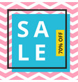 sale banner template design with chevron pattern vector image