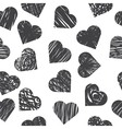 Seamless pattern with grey hearts on white vector image vector image