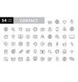 set 54 contact us web icons in line style web vector image