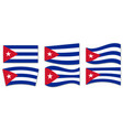 set cuba flag in different shapes vector image vector image