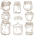 set isolated mason jars vector image
