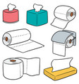 set of tissue papers vector image
