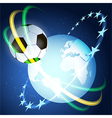 Soccer space vector image