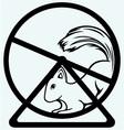 Squirrel runs in a wheel vector image vector image