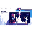 startup landing people successful launch vector image