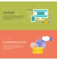 Support with different item icons vector image