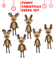 The Jolly reindeer Christmas set vector image vector image