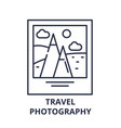 travel photography line icon concept travel vector image vector image
