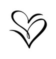 two black hearts sign icon on white vector image vector image