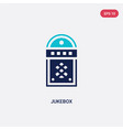 two color jukebox icon from birthday party and vector image vector image